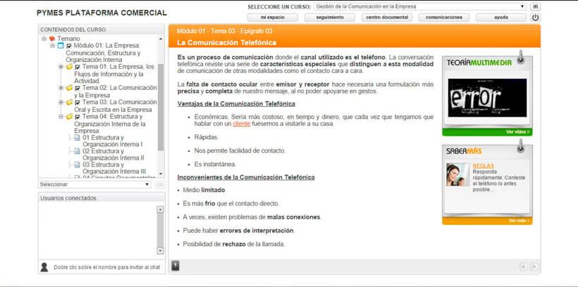 COMUNICACIÓN EN LA EMPRESA - Pymes Plataforma Comercial