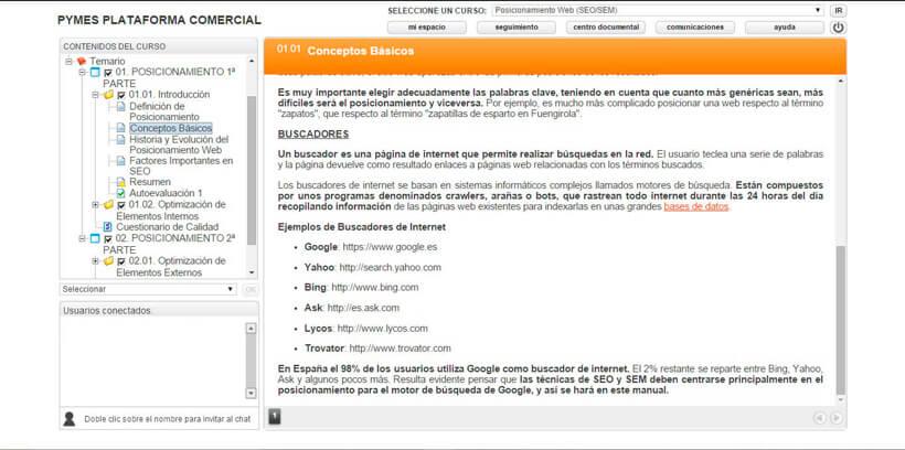 POSICIONAMIENTO WEB (SEO-SEM) - Pymes Plataforma Comercial