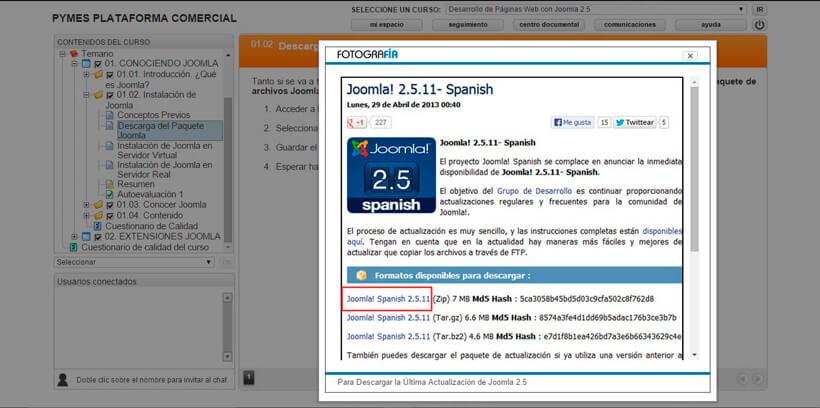 DESARROLLO DE PÁGINAS WEB CON JOOMLA 2.5 - Pymes Plataforma Comercial