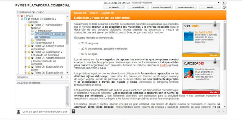 DIETÉTICA Y NUTRICIÓN - Pymes Plataforma Comercial