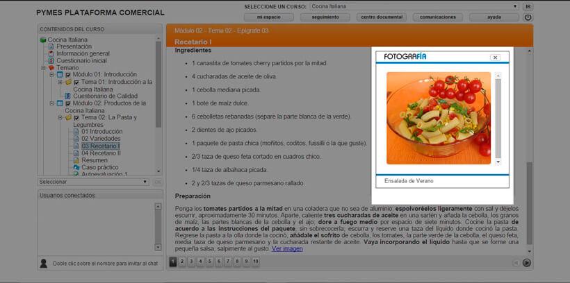 COCINA ITALIANA - Pymes Plataforma Comercial