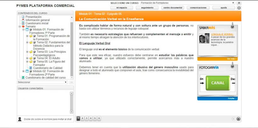 FORMACIÓN DE FORMADORES - Pymes Plataforma Comercial