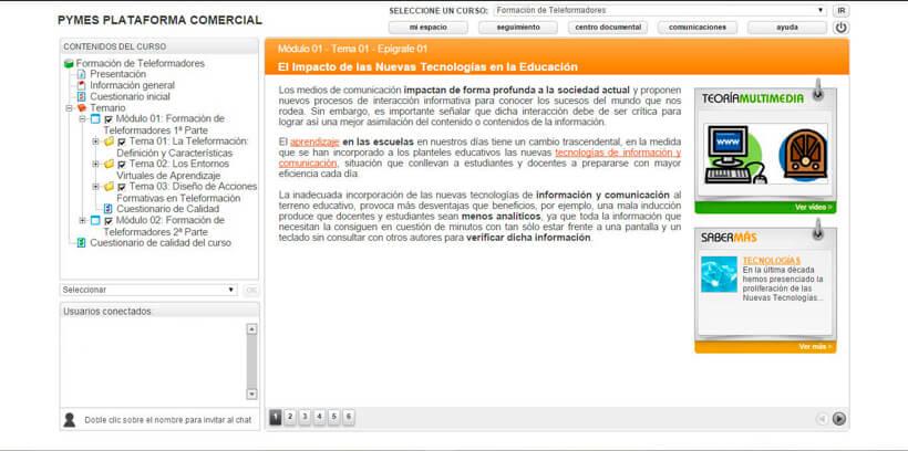 FORMACIÓN DE TELEFORMADORES - Pymes Plataforma Comercial