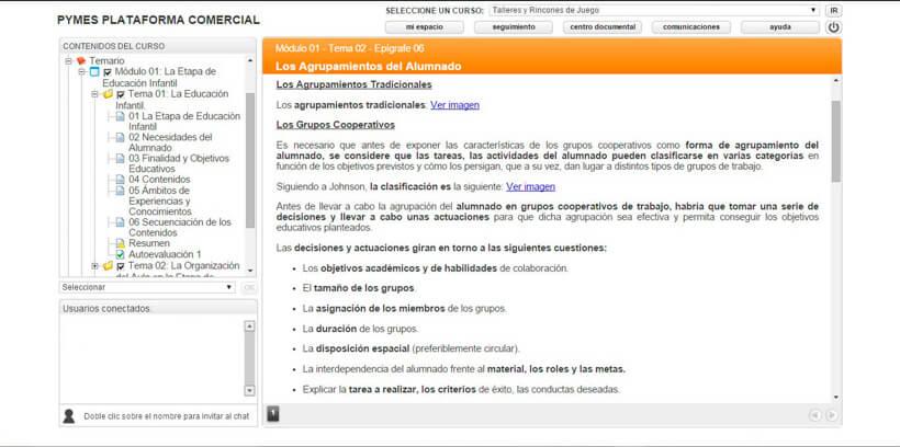 TALLERES Y RINCONES DE JUEGO - Pymes Plataforma Comercial