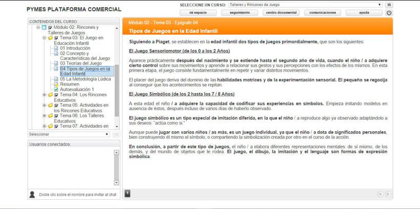 TALLERES Y RINCONES DE JUEGO - Centro de Formación Nacional