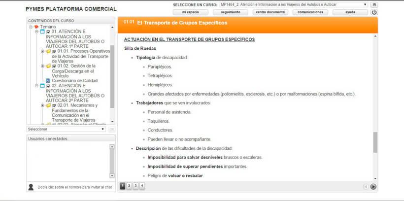 ATENCIÓN A VIAJEROS DE AUTOBÚS - Pymes Plataforma Comercial