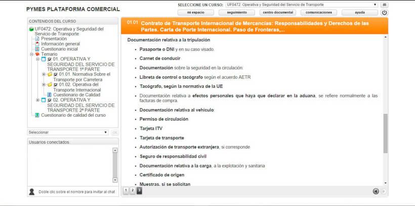 SEGURIDAD DEL SERVICIO DE TRANSPORTE - Pymes Plataforma Comercial