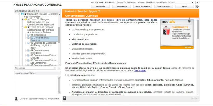 PREVENCIÓN RIESGOS LABORALES - QUÍMICO - Pymes Plataforma Comercial