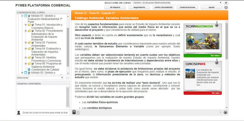 GESTIÓN Y EVALUACIÓN MEDIOAMBIENTAL - Pymes Plataforma Comercial