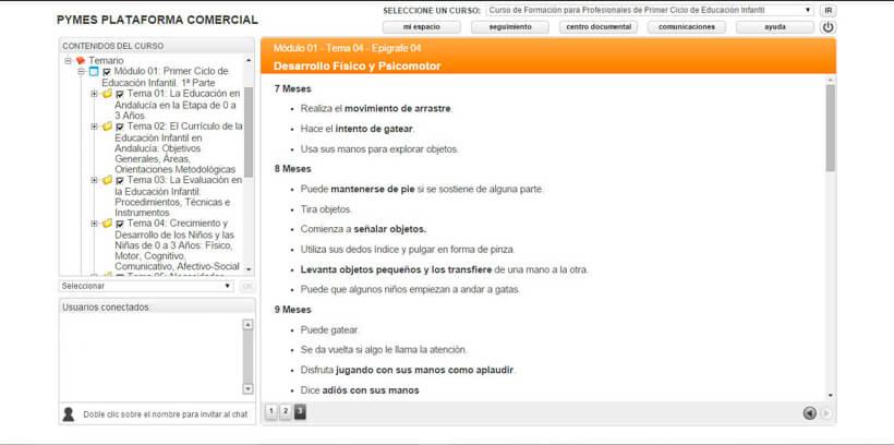 PRIMER CICLO DE EDUCACIÓN INFANTIL - Pymes Plataforma Comercial