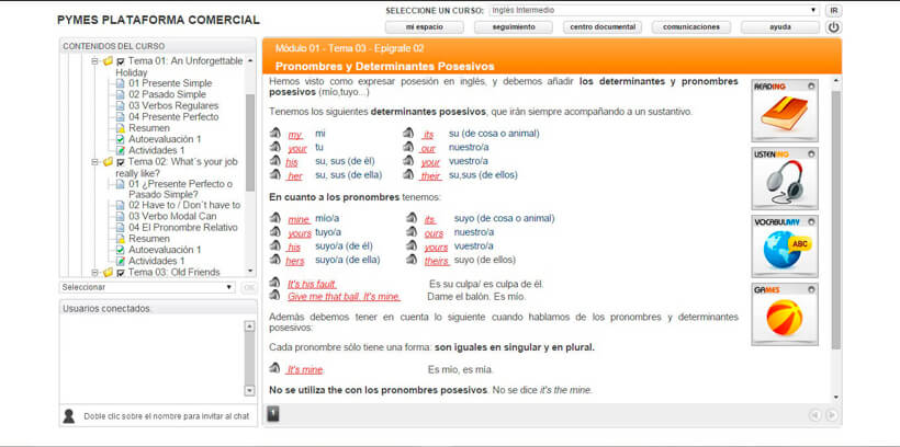 INGLÉS INTERMEDIO - Pymes Plataforma Comercial