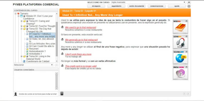 INGLÉS AVANZADO - Pymes Plataforma Comercial