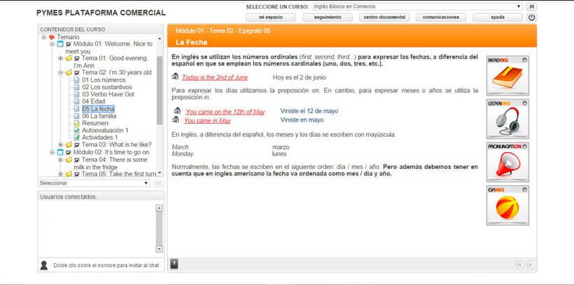 INGLÉS BÁSICO EN COMERCIO - Pymes Plataforma Comercial