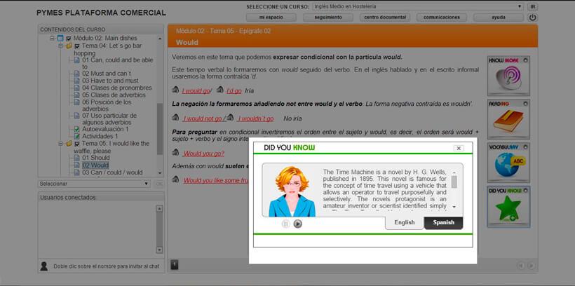 INGLÉS MEDIO EN HOSTELERÍA - Centro de Formación Nacional