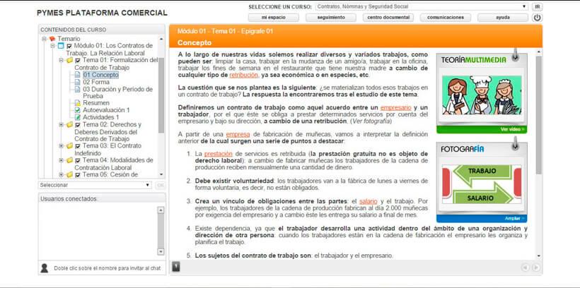 CONTRATOS, NÓMINAS Y SEGURIDAD SOCIAL - Pymes Plataforma Comercial