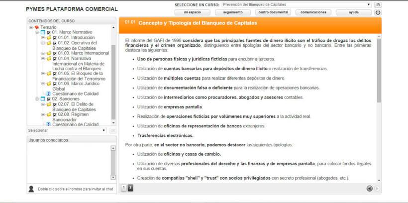 PREVENCIÓN DEL BLANQUEO DE CAPITALES - Pymes Plataforma Comercial