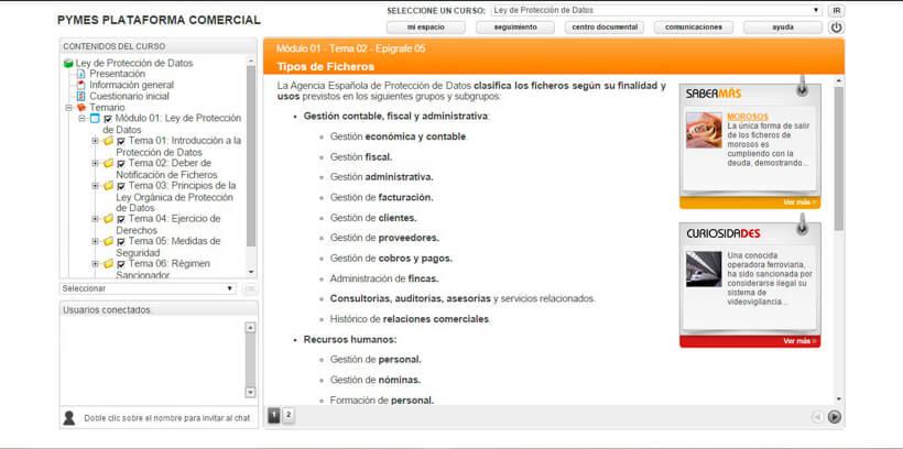 LEY DE PROTECCIÓN DE DATOS (LOPD) - Pymes Plataforma Comercial