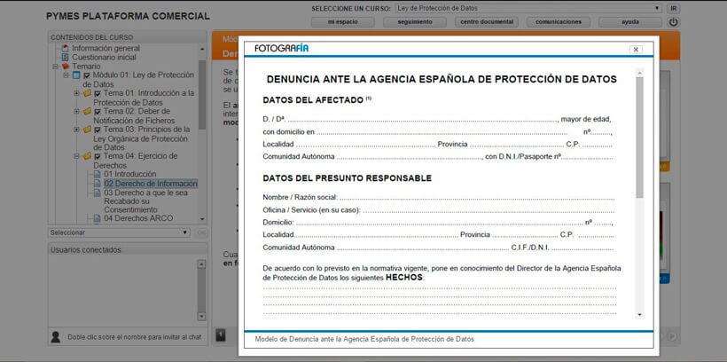 LEY DE PROTECCIÓN DE DATOS (LOPD) - Centro de Formación Nacional