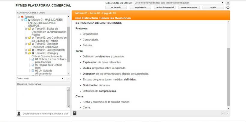 DIRECCIÓN DE EQUIPOS - Pymes Plataforma Comercial